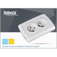 Europe standard 16A 250V two gang electric wall socket used in the living room Manufactures