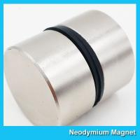 Thick Disc Industrial Neodymium Magnets Large Size Zinc Nickel NiCuNi Coating D50 X 30 Manufactures