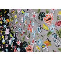 Buy cheap French Floral Multi Colored Lace Fabric For Evening Dress And Lace Lingerie from wholesalers
