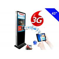 Indoor 3G Digital Signage Wifi Free Standing Kiosk LCD Advertising Screen Manufactures