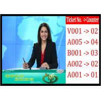 China Queue System Main LCD TV display , 42 inch Number Display Advertising on sale