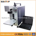 Bearing portable fiber laser marking machine small size desktop model Manufactures