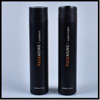 300ml Plastic Cosmetic Bottle Long Shape For Shampoo / Shower Gel Packaging Manufactures