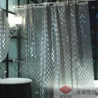 Quality 6 guage heavy duty  gray peva bathroom shower curtain liner anti bacterial custom label for sale