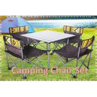 Folding Camping Chair Table Set Beach Chair Fishing Chair Set (4 Chairs+1 Table) Manufactures