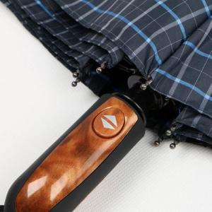 Quality Fully Auto 3 Compact Golf Umbrella , 27 Inches Mens Golf Umbrella Blue Plaid for sale