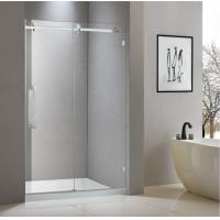 Stainless steel shower enclosure 1200*2000 with one sliding door and one fixed panel Manufactures