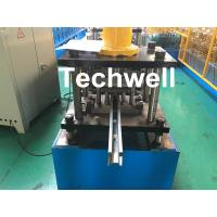 PPGI , Galvanized Steel Guide Rail Roll Forming Machine With Disk Saw Cutting For Making Shutter Door Slats Manufactures