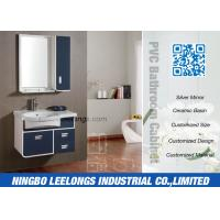 Stable PVC Traditional Bathroom Vanity Cabinets Wall Hanging Smooth Painting Manufactures