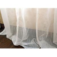 Upholstery White Sheer Curtain Fabric / Extra Wide Polyester Voile Fabric Manufactures