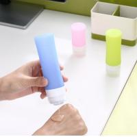 1 Ounce Silicone Travel Packing Bottle , Silicone Travel Containers Mixing Color Manufactures