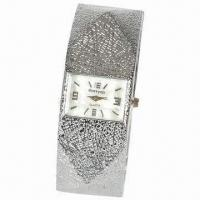 Bangle Cuff Bracelet Watch, Alloy Case and Band, Stylish and Novelty Manufactures