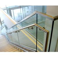 Aluminum u base channel glass railing with stainless steel top handrail Manufactures