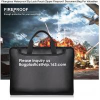 Waterproof and Fireproof document storage Bag with Fireproof Zipper for Money, Jewelry and Passport bagease, bagplastics Manufactures