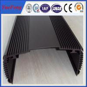 Color hot selling 6063 t5 anodized car amplifier enclosure aluminium extrusion box Manufactures