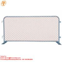 China hot sell construction removable temporary site safety barrier orange chain link fence barricades for sale on sale