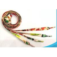 Eco Friendly Colorful Printed Custom Shoe Laces With Custom Design Logo Manufactures