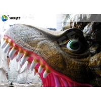 Amusement Park  Dinosaur Cabin Movie Theater Equipments With 4 Seats Manufactures