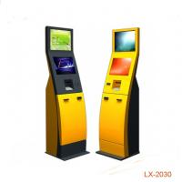 China Infrared Dual Screen Self Service Ticketing Kiosk Coin Operated With Printer on sale