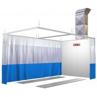Small Infrared Paint Spray Booth Prep Stations , Car Painting Preparation Station Manufactures