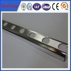 China electrophoresis aluminum extrusion, tile trim for marble edge manufacturer, OEM aluminium on sale