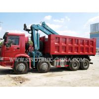 China HOWO 12 Wheeler Dump Truck Mounted Hydraulic CraneHeight 14.5m For Industry on sale