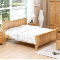 Natural Solid Wood Bedroom Furniture Sets Wooden Frame Simple Style Customized Size Manufactures