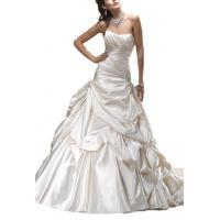 Albizia Women's Strapless Chapel Train Satin Wedding Dress Manufactures