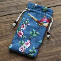 Anti - Scratch Lipstick Makeup Bag , Patterned Small Drawstring Bags Manufactures