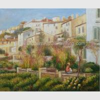 Custom Pierre Auguste Renoir Oil Paintings Reproduction Terrace at Cagnes Manufactures