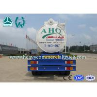 6mm Steel Sheet Q235 Anti Caustic Two Axle Tanker Trailers With Air Braking Manufactures