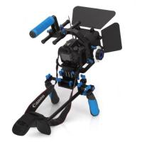 Dslr rig movie kit with shoulder mount+Follow Focus+Matte Box+C Shape Support Cage Manufactures