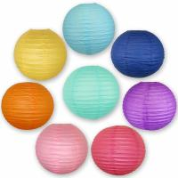 Buy cheap Colorful Chinese Paper Lamp Paper Lantern Decorations 6 Inch / 8 Inch from wholesalers