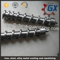 China parallel twin screw counter-rotating screw for pvc pe pp on sale