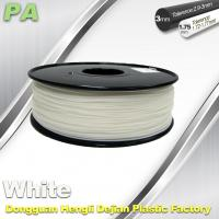 Quality High Strength 3D Printing Nylon Filament 1.75 / 3.0mm Withe no bubble for sale