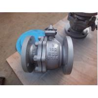 Full Bore Flanged Ball Valve , Floating ANSI 150 LB High Temperature Ball Valves Manufactures