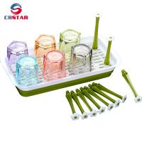 China Kitchen organisers drainer draining rack plastic cup holder drainer baby bottle drying rack-RECTANGLE on sale