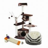 China Pet products, includes cat trees, pet beds, cat sisal toys, pet collar and leashes on sale