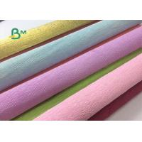 China Colored Double Sided Crepe Paper Roll 52cm x 250cm For Decorations on sale