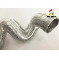 Aluminum Rigid Semi Flexible Aluminium Air Extractor Pipe For Hot Air Semi Manufactures