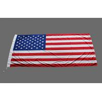 China CMYK Printing United States Flag Sign Flags Banner With 110 Gram Knitted Polyester on sale