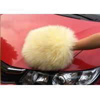 China Auto Detailing Tool Car Cleaning Mitt With 100% Australia Natural Wool on sale