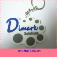 China manufacturer new design promotional custom soft rubber keychain Manufactures