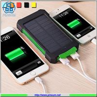 Buy cheap Solar power bank 10000MAH high capacity with li-polymer battery from wholesalers
