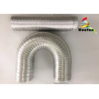 Round 10 Inch Aluminum Air Duct , Ventilation Heat Resistant Flexible Ducting Manufactures