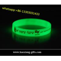 Quality high quality customized silicone wristbands/bracelet for events glow in dark for sale