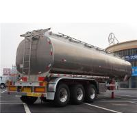 China Stainless Steel  40000L 12000*2500*3650mm Tri-axle Oil Tank Trailer on sale
