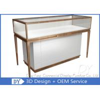 Modern Fashion Brush Jewellery Display Counter With Led Lights Manufactures