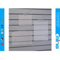 China Supermarket Slant Clear Acrylic Stand Display for Slatwall on sale
