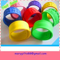 silicone rubber snap on wristbands Manufactures